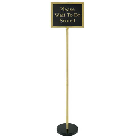 Chef Master Brass Double-Sided Pedestal Message Board 14 x 11