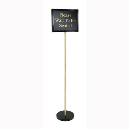Chef Master Black Double-Sided Pedestal Message Board 14 x 11