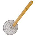 Town 10\x22 Stainless Steel Wire Skimmer with Bamboo Handle