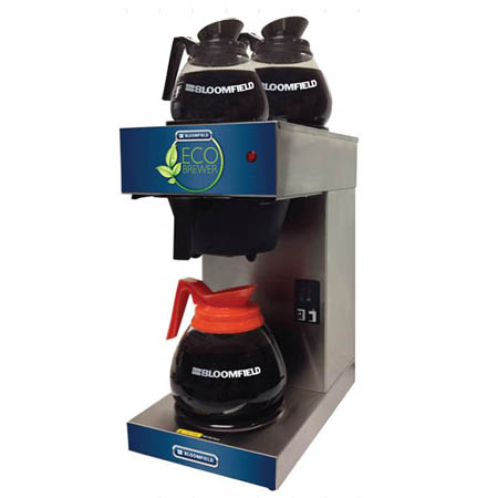 Bloomfield Eco Brewer 2-Burner Pourover Coffee Brewer with 3 Free Decanters