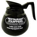 64 oz. Regular Black Coffee Pot with Restaurant Equippers Logo