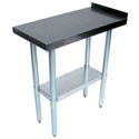 Sauber Stainless Steel Filler Work Table with 1-1/2\x22 Backsplash 15\x22W x 30\x22D x 35\x22H