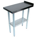 Sauber Stainless Steel Filler Work Table with 1-1/2\x22 Backsplash 18\x22W x 30\x22D x 35\x22H