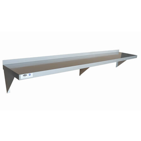 "Sauber Stainless Steel Wall Shelf 12""D x 72""W"
