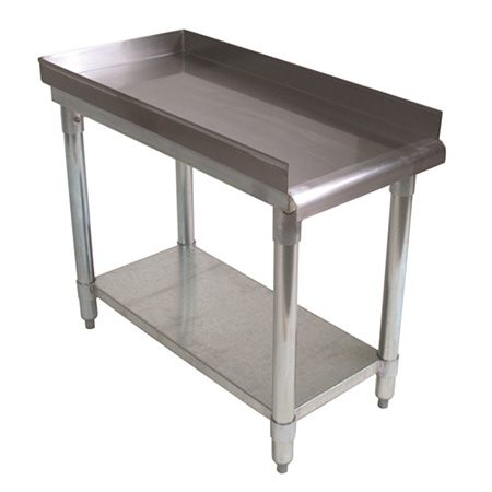 "Sauber Stainless Steel Equipment Stand with 2"" Risers 15""W x 30""D x 24""H"