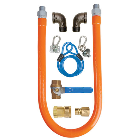 "Sauber 3/4"" x 48"" Quick Disconnect Gas Hose with Installation Kit"
