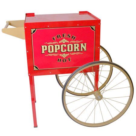 Antique Trolley Cart for Benchmark USA 4 to 8 oz. Street Vendor Popcorn Poppers