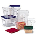 Carlisle Clear Square Graduated Food Storage Containers & Lids