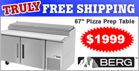TRULY Free Shipping Berg Pizza Prep Table