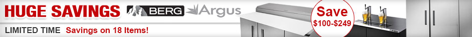 Huge Savings on Argus and Berg Refrigeration
