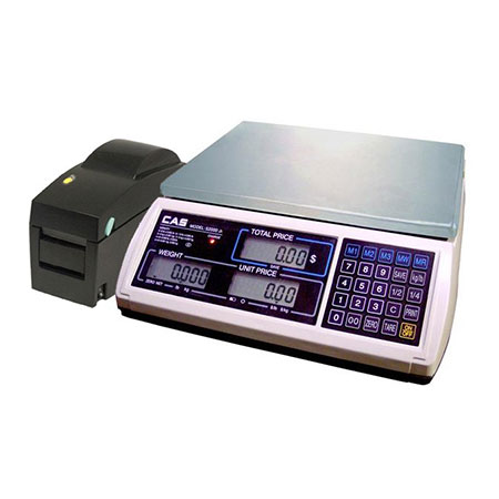 CAS 30 lb. x 0.1 oz. Digital Price Computing Scale with Printer and Labels
