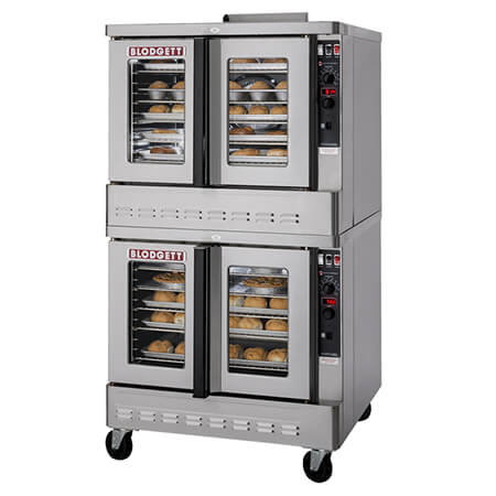 "Blodgett Zephaire Bakery Depth Double Deck Natural Gas Convection Oven with Casters 38-1/4""W"