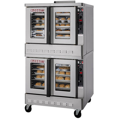 Blodgett Zephaire Bakery Depth Double Deck Liquid Propane Convection Oven with Casters