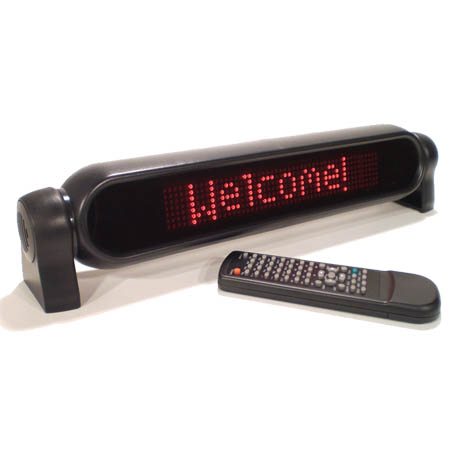 "Mystiglo Scrolling LED Message Sign 16-1/2"" x 3-1/2"""