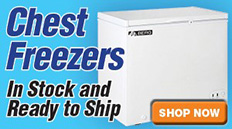 Chest Freezers Ready to Ship
