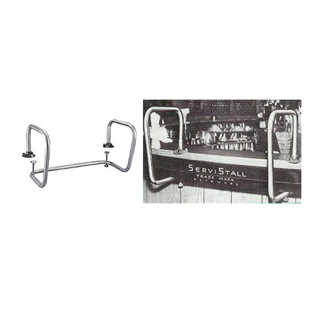 "Chrome Plated ServiStall Serving Station 28""W"
