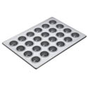 "Focus 2-1/16"" Diameter 24 Cup Aluminized Steel Mini Muffin Pan"