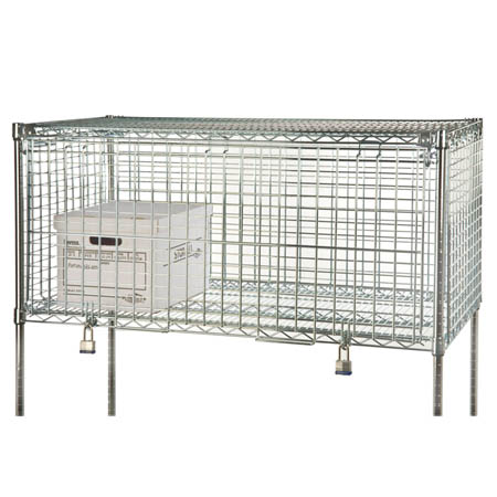 "Focus Chrome-Plated Wire Security Shelf Module 24"" x 48"""