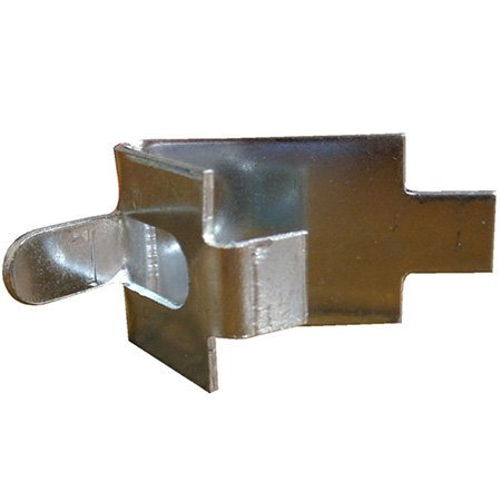 Square-Slotted Pilaster Shelving Clip for Refrigerator or Freezer