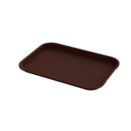 "Impact Plastic Chocolate Fast Food Tray 10"" x 14"""
