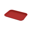 "Impact Plastic Red Fast Food Tray 14"" x 18"""