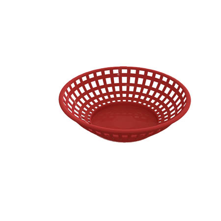 "Impact Red Plastic 8"" Round Basket"