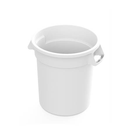 Impact 10-Gallon White Round Trash Container