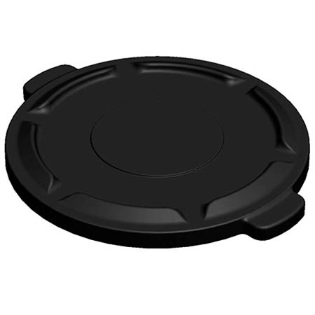 Flat Lid for Impact 32-Gallon Black Round Trash Container