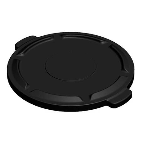 Flat Lid for Impact 44-Gallon Black Round Trash Container