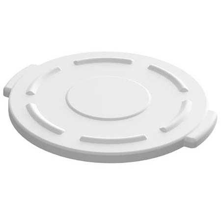 Flat Lid for Impact 10-Gallon White Round Trash Container