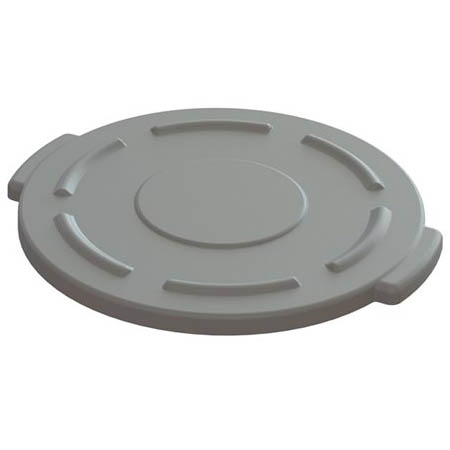 Flat Lid for Impact 10-Gallon Gray Round Trash Container