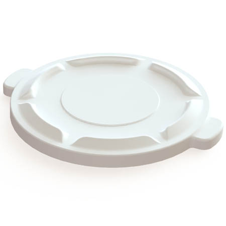 Flat Lid for Impact 20-Gallon White Round Trash Container