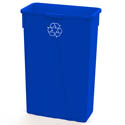 Impact 23-Gallon Slender Blue Recycle Container