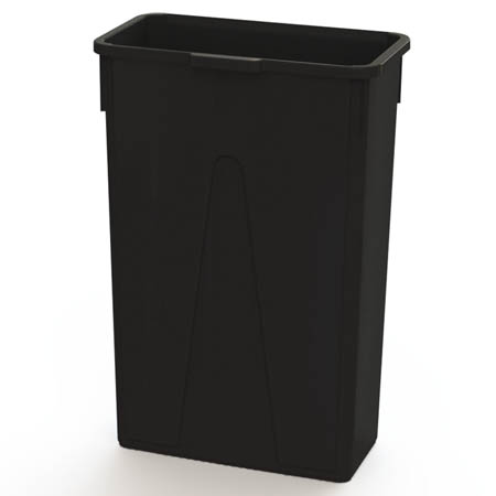 Impact 23-Gallon Black Slender Trash Container
