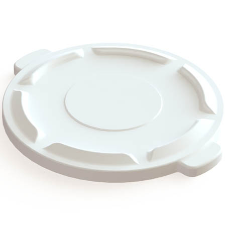 Flat Lid for Impact 32-Gallon White Round Trash Container