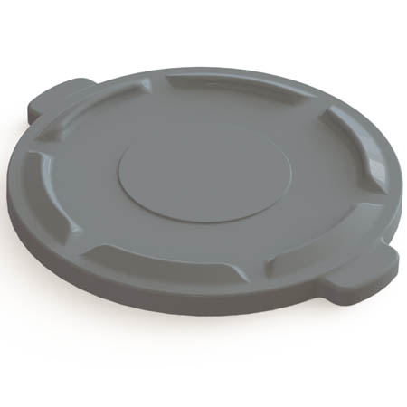 Flat Lid for Impact 32-Gallon Gray Round Trash Container