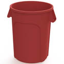 Impact 44-Gallon Red Round Trash Container