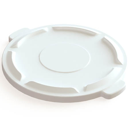 Flat Lid for Impact 44-Gallon White Round Trash Container