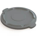 Flat Lid for Impact 44-Gallon Gray Round Trash Container