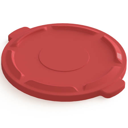 Flat Lid for Impact 44-Gallon Red Round Trash Container