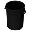 Impact 44-Gallon Black Round Trash Container