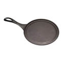 Tomlinson 9\x22 Cast Iron Round Fajita Platter with Handle