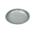 Tomlinson Aluminum Holder with Burnished Finish for 7-1/2\x22 Round Deep Dish Dinner Platter