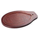 Tomlinson Wood Holder for 10\x22 x 7\x22 Cast Iron Oval Fajita Platter with Handle