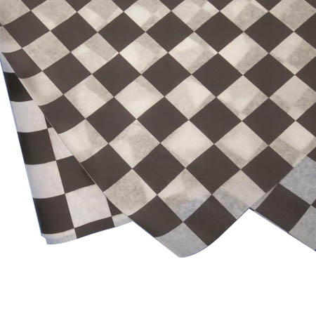 "Deli Black Check Print Wax Sheets 12"" x 12"""