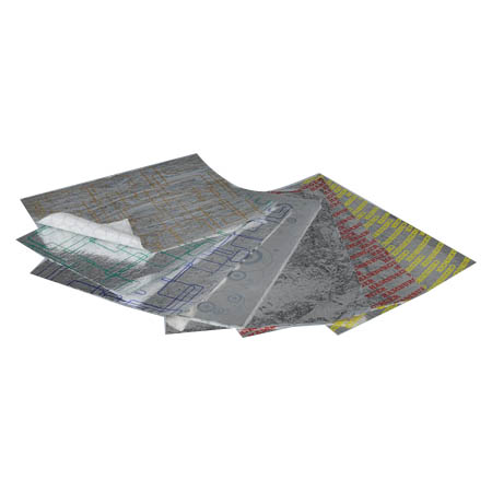 "Heavy Duty Laminated Aluminum Foil Sheets 14"" x 16"""