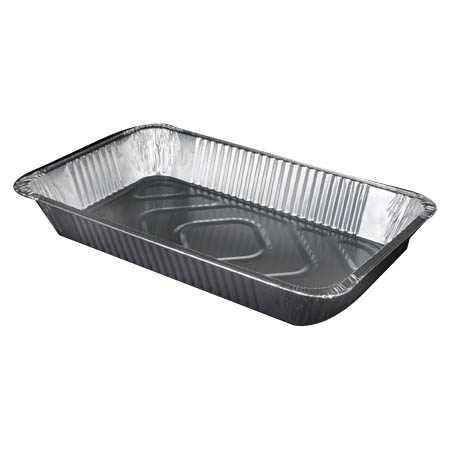 "Full Size Economy Gauge Aluminum Food Pan 3-3/8"" Deep"