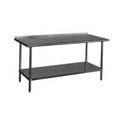 Duke Stainless Steel Work Tables with 1-1/8' Backsplash