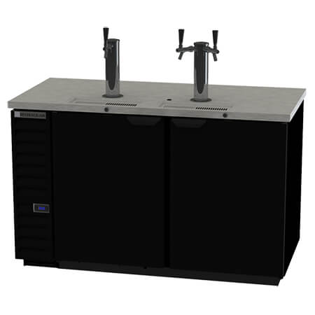 "Beverage-Air 3-Keg Direct Draw Black Beer Tap 59""W"