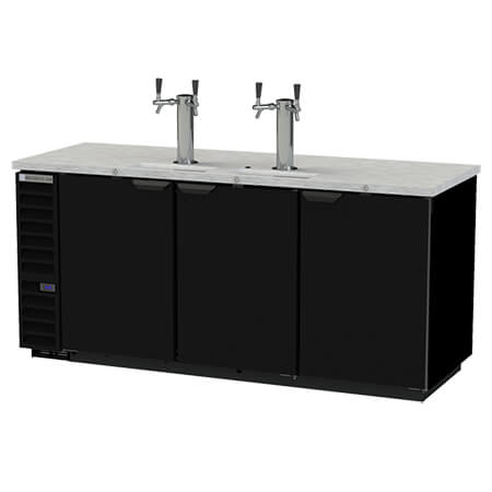 "Beverage-Air 4-Keg Direct Draw Black Beer Tap 79""W"